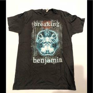 Next Level Apparel Shirts - 🎸 Breaking Benjamin olive T-shirt cotton new